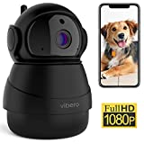Vibero WiFi Camera 1080P Pet Camera Baby Monitor with Night Vision Motion Detection 2-Way Audio Wireless Indoor Home Security Camera Dogs/Cats/Nanny Cam with 360 Pan/Tilt/zoom