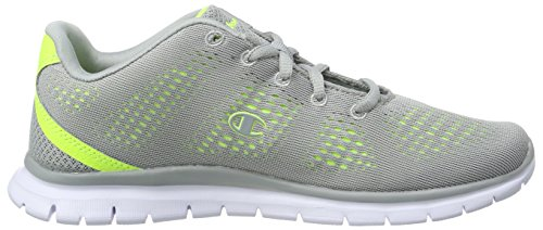 Champion Damen Low Cut Shoe Alpha Laufschuhe Grau (Grey Melange/Neongrün 1)