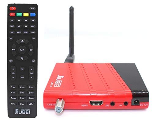 Receptor decodificador satelite y Reproductor Multimedia Jiubei JDT-1 HD con Antena WiFi