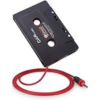 OKCS Kassetten Adapter - Autoradio Car Tape AUX Adapter für ihr Auto 3,5 mm Klinkenstecker für Smartphones, Tablets, Discman, CD-Player, MP3-Player, uvm. - Schwarz