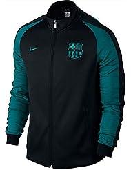 Nike Fcb Auth N98 - Chaqueta Línea F.C. Barcelona para hombre, color negro, talla 2XL