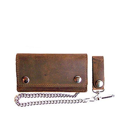 Biker Wallet, Leder, mit Kette, Farbe:nubuk 6/15cm;Größe:15x9cm (Biker Wallet)