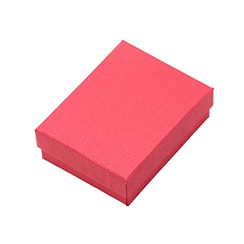 NBEADS 12Karton Ring Halskette Schmuck Geschenk Verpackung Box, rot, 9x 7x 3cm