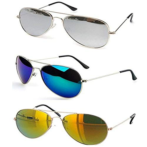 Aviator Sunglasses for Mens and Boys Stylish Y&S Branded Mercury Goggles Shades