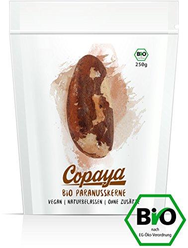 Paranüsse BIO aus Brasilien   Paranusskerne   Brazil Nuts   Natürliche Selen Quelle   Knackige Kerne im praktischen Zipper Bags   Handverlesen   4 x 250g (1KG)