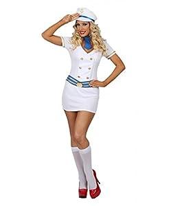 Partychimp 6079318 - marinero que incluye 3 accesorios, S, XL, blanco