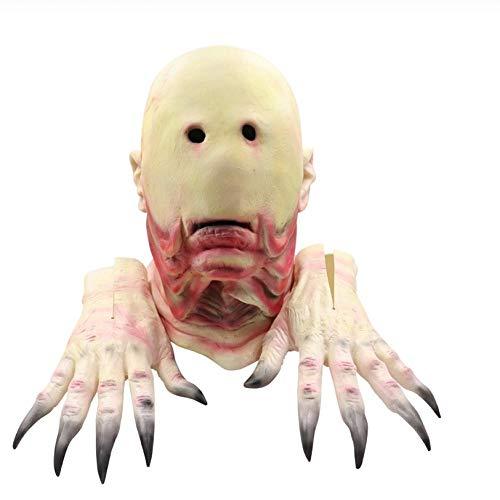 YAX Mascara Sartenes De Película Laberinto Máscara Látex Fantasma De Miedo Máscaras De Fiesta De Halloween Guante Carnival Props C