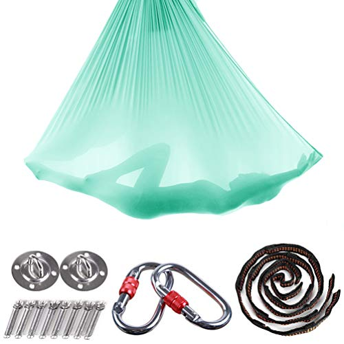 Brinny Yoga DIY Silk Pilates Premium Aerial Silks Equipment Aerial Yoga Tuch Aerial Silk elastische Yoga Hängematte mit Stoff Zubehör 5 Meter