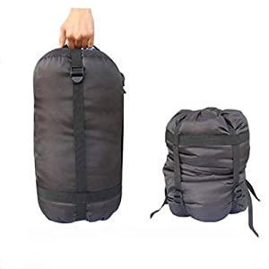 41FcNoypN%2BL. SS300  - Compression Sack,CAMTOA Stuff Sack/Lightweight Compression Nylon Bag With Drawstring & 4 Compression Straps For Clothing,Duvets,Sleeping Bag, Pillows,Curtains,Traveling,Outdoor Camping Approx.24L(Max)