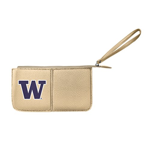 Littlearth Damen NCAA Washington Huskies Pebble Wristlet, Gold, 20,3 x 10,2 x 2,5 cm -