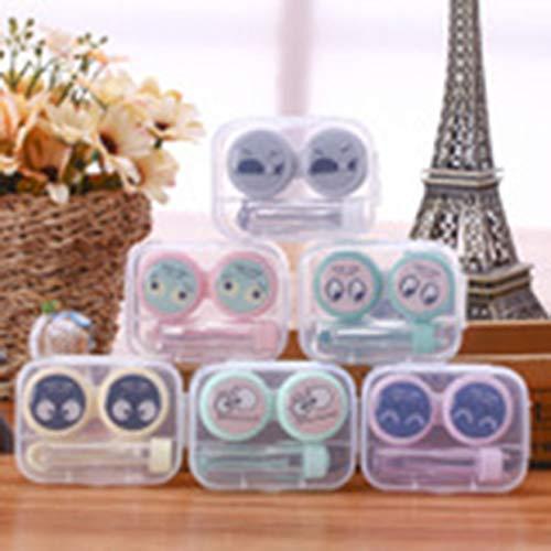 Tellaboull Cartoon Niedlichen Kontaktlinsenetui Augenpflege Kit Tragbare Kontaktlinsenhalter Aufbewahrungsbox für ()