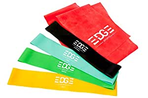 Premium Resistance Band Set of 5. Includes 4 Loop Resistance Bands /1 Long Exercise Band. Recycled Nylon Travel Bag. Ideal For Sports, Exercise and Hitting Fitness Goals. Train All Muscles Including Legs/Glutes. For Men & Women. Extra Heavy/Heavy/Medium/Light + Long Band. Includes Free 32 Page Instruction Ebook.