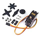 SunFounder Metal Gear Digital RC Servo Motor High Torque for Helicopter Car Boat Robot Arduino AVR Toys Drone Fix-Wing Airplane (MEHRWEG)
