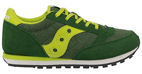 SAUCONY SY55552 JAZZ green yellow verde scarpe ragazzo boy laccio Verde