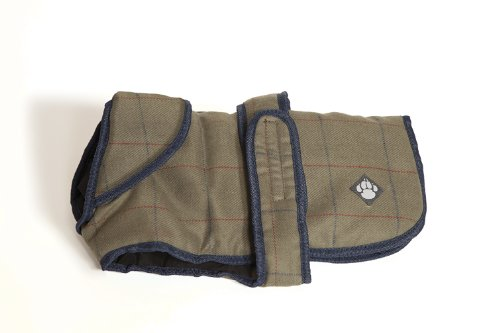 Danish design pet products cappotto idro-repellente in tweed per cani (50cm) (verde)