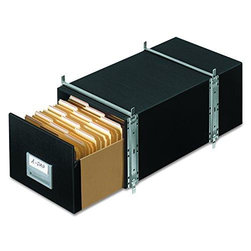 StaxonSteel 00511 Bankers Box Schubladen, Brief, 6 Stück Letter schwarz