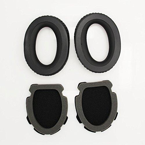 Ersatz-Ohrpolster Leder Ohrpolster Ersatz Ohrpolster Kit passend für BOSE Aviation Headset X A10 A20 (1Pair Schwarz) A20 ® Aviation Headset