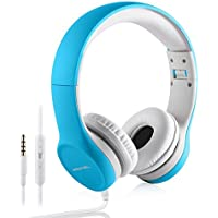 Kopfhörer für Kinder, hisonic Kinder Kopfhörer mit Laustärkebegrenzung Verstellbare Kinder Erwachsene Headset für iPod iPad iPhone Android Handy Tablet PC MP3 MP4 Player(Blau)