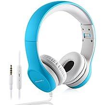 Auriculares para Niños, Hisonic Auriculares Plegable de Diadema con Cable Ajustables con Limitación de Volumen