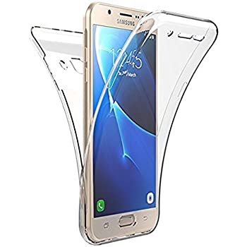 0f188e3f31 Etsue Clear Case for Samsung Galaxy J7 Prime, Full Body (Back & Front)