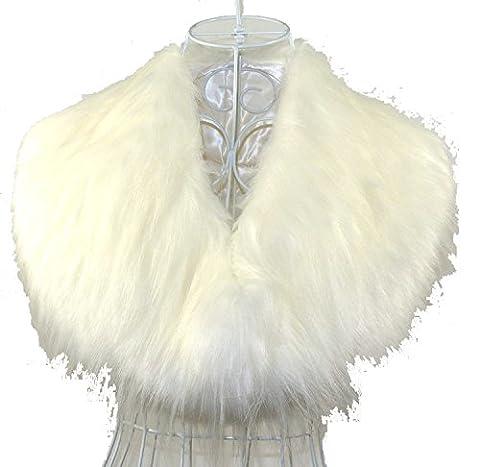 Fashion Tendance d'hiver chaude en fausse fourrure Boléro Collier Foulard couleurs écharpes Blanc