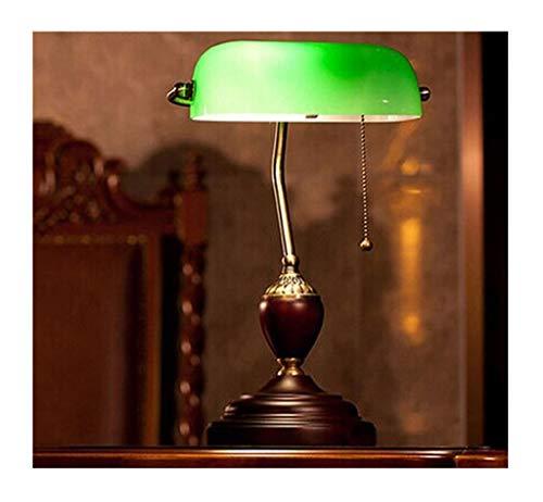 HN Lighting Antiken Stil Smaragdgrünes Glas Schreibtisch Licht/Wohnzimmer Schlafzimmer Traditionelle Banker Lampe - Schlafzimmer Traditionellen Schreibtisch