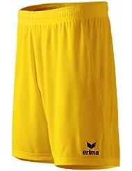 erima Shorts Rio 2.0 - Pantalones cortos de fútbol para niño, color amarillo, talla 12 años (152 cm)