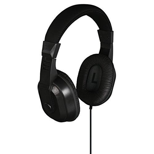 Thomson HiFi TV-Kopfhörer (mit langem Kabel, Over-Ear, 8m Kabellänge, zum Fernsehen und Musik hören, mit Lautstärkeregler, 3,5 mm Klinkenstecker inkl. 6,35 mm Adapter, Fernsehkopfhörer) schwarz