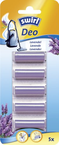 Swirl Staubsauger-Deo-Sticks Lavendel, Zum Einlegen in Staubsaugerbeutel, Parfümiertes Duftöl, 5 Stück