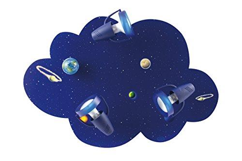 Kinder Deckenleuchte in Blau E14 bis 40 Watt 230V Deckenlampe aus Holz Kinderzimmer Kinderleuchte Lampe Leuchten innen Beleuchtung