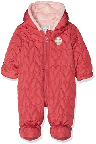 Sanetta Baby-Mädchen Outdooroverall Schneeanzug, Rot (Raspberry 3481.0), 80
