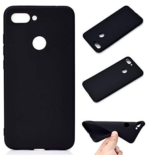 Leicht R&um-Schutzhülle für Xiaomi Mi 8 Lite TPU-Hülle / Mi8 Youth Hülle Handyhülle, Ultraleicht Silikon-Handyhülle (Black) Kollision Hülle. TU6