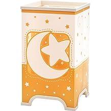 Dalber 63230j Luna y Estrellas–Lámpara de mesa, plástico, Naranja, 12.5x 12.5x 21.5cm