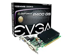 EVGA GeForce 8400 GS Passive 1024 MB DDR3 PCI Express 2.0 Graphics Card DVI/HDMI/VGA 01G-P3-1303-KR