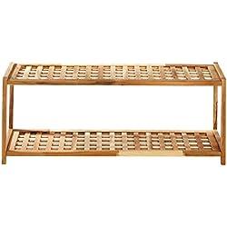 Premier Housewares - Zapatero (2 estantes, madera, 30 x 79 x 26 cm)