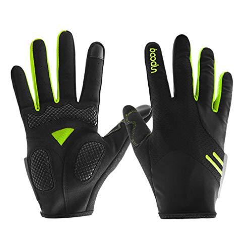 DUBAOBAO Fahrrad-Vollfingerhandschuhe, Rutschfeste Herren-Reithandschuhe, Polsterdesign, Outdoor-Sportausrüstung für Bergsteigen