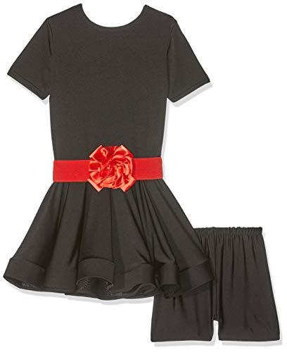 Kostüm Sternen Dancewear Tanz - Matissa Kinder 'S Dance Kleid Ballett lateinischer Rumba Samba Kleid Röcke Dancewear Mädchen Kids 3-15Jahre (schwarz, 150(12-13Jahre))