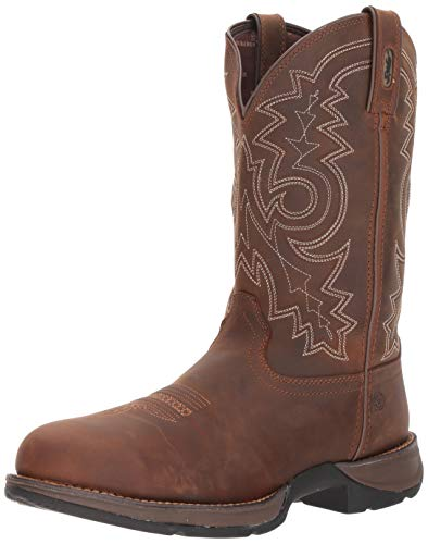 Durango Men's Rebel Steel Toe Waterproof Western Work Boot -