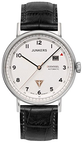 Junkers Men's Automatic Watch with Black Dial Analogue Display Leather 67541
