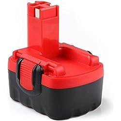 Dosctt 14.4V 3.0Ah Ni-Mh Batterie de Remplacement pour Bosch BAT038 BAT040 BAT041 BAT140 BAT159 13614 3660K 52314 PSR 14.4 2607335275