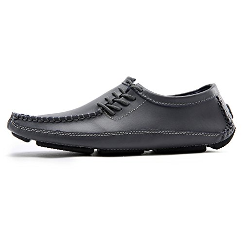 Hommes Loisirs Mode Chaussures Chaussures de Conduite en Cuir Lacets Mocassins Gris