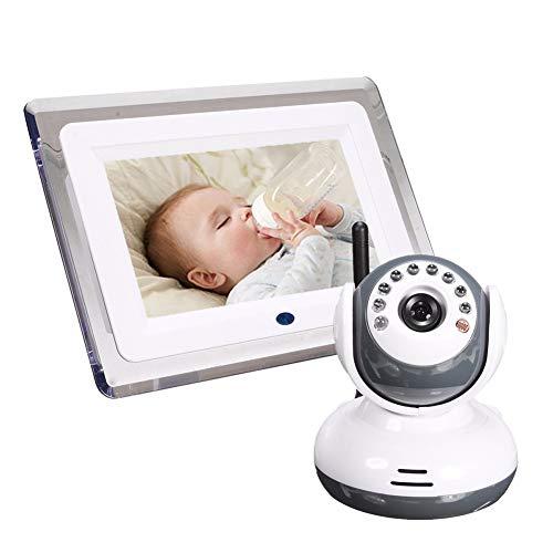 YZY Monitor inalámbrico for bebés con pantalla LCD de 7 pulgadas, visión nocturna, conversación...