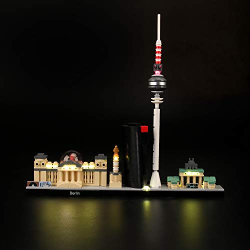 LIGHTAILING Conjunto de Luces (Architecture Berlin) Modelo de Construcción de Bloques - Kit de luz LED Compatible con Lego 21027 (NO Incluido en el Modelo)