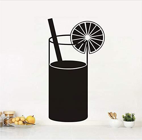 Diy schwarz gedruckt saft trinken küche wandaufkleber gourmet abziehbilder wohnkultur restaurant dekoration hotel tapete kunst 32x58 cm -