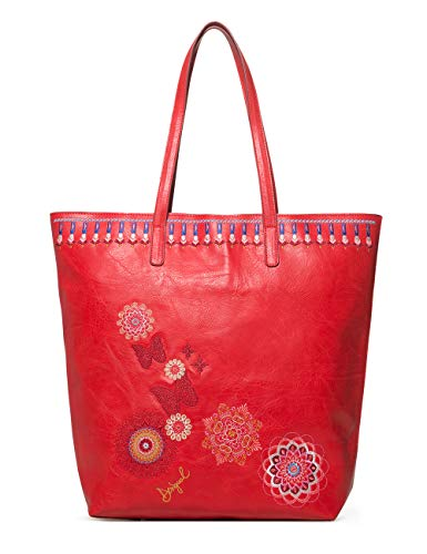 Desigual - Bag Chandy Rio Zipper Women, Shoppers y bolsos de hombro Mujer, Rojo (Carmin), 12x37x29...