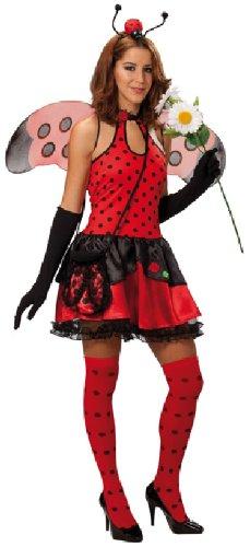 Rubie's Karneval Damen Kostüm Sexy Marienkäfer Kleid für Fasching Größe - Damen Sexy Marienkäfer Kostüm