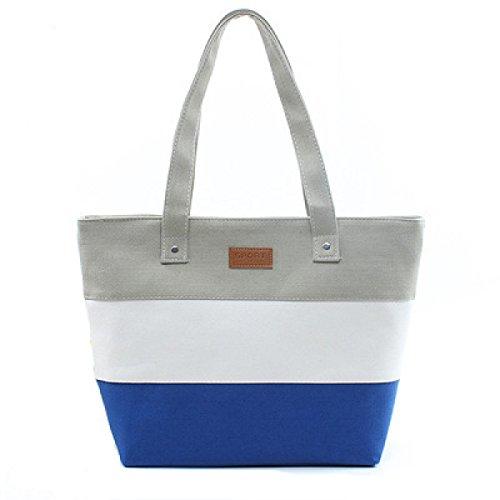 Stripes Canvas Stitching Handtaschen Big Bags Schultertaschen Casual Fashion Handtaschen D