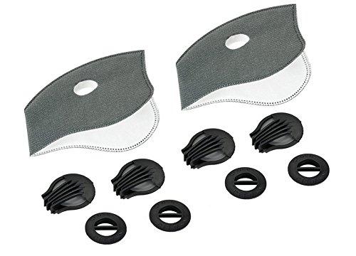Refosian Atemschutzmaske mit Aktivkohlefilter Staubmasken Verschluß Ventil Feinstaubmaske Fahrrad Masken Atemschutzmaske mit Ersatzfilter