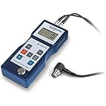 Medidor de espesores de materiales para el uso diario [Sauter TB 200-0.1US-RED] sólo puede medir hierro fundido, aluminio, cobre, latón, cinc, vidrio (de cuarzo), polietileno, PVC, hierro fundido, fundición de grafito esferoidal, acero