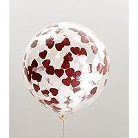 XXL Ballon mit Herzkonfetti gefüllt